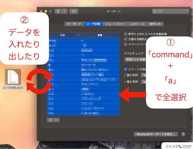 Mac ユーザー辞書 バックアップ